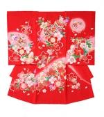 産着・おかけ 赤、大桜、鶴、まり