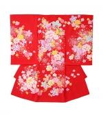 産着・おかけ 赤、まり、桜